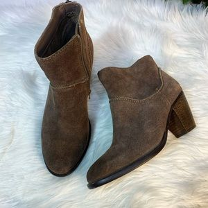 Steve Madden Milaan Suede Leather Ankle Booties